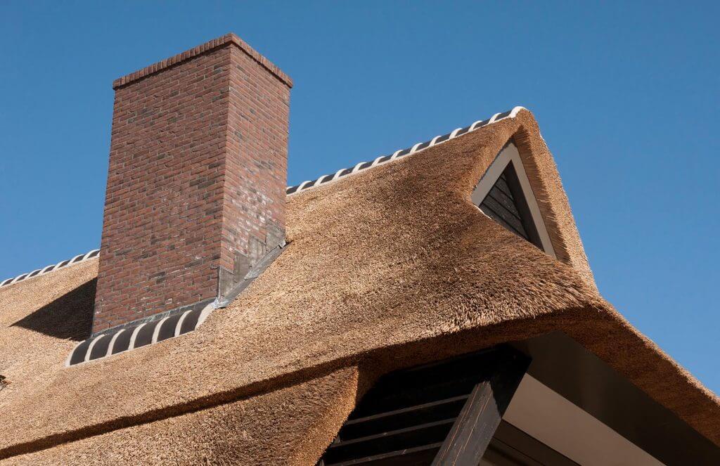 Rieten dak modern villa in Arnhem