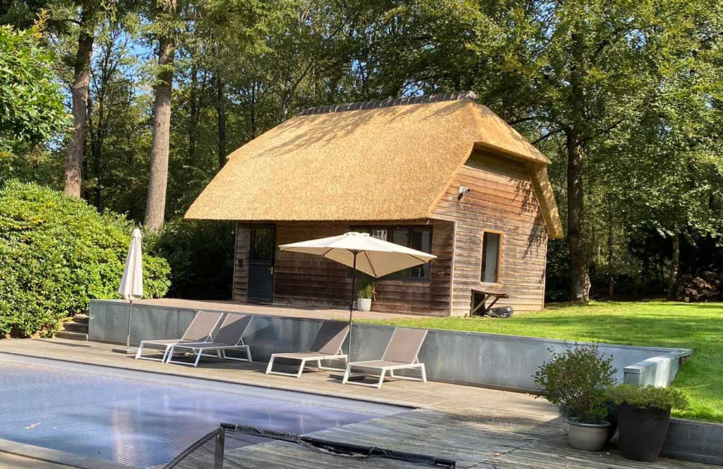Rieten dak poolhouse